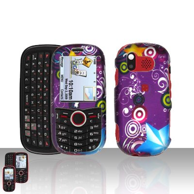 Purple Design Cover Case Snap on Protector for Samsung Intensity U450