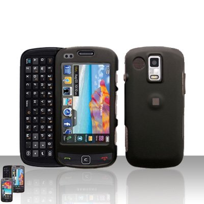 Black Cover Case Snap on Protector for Samsung Rogue U960