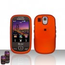 Orange Cover Case Snap on Protector + Car Charger for Samsung Flight A797