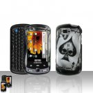 Spade Skull Cover Case Snap on Protector + Car Charger for Samsung Moment M900