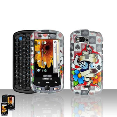 Dice Poker Cards Cover Case Snap on Protector for Samsung Moment M900