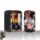 Clown Skull Cover Case Snap on Protector for Samsung Moment M900