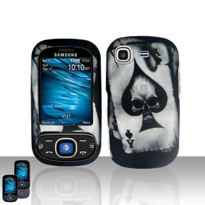 Spade Skull Cover Case Snap on Protector for Samsung Strive A687