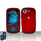 Red Cover Case Snap on Protector for Samsung Strive A687
