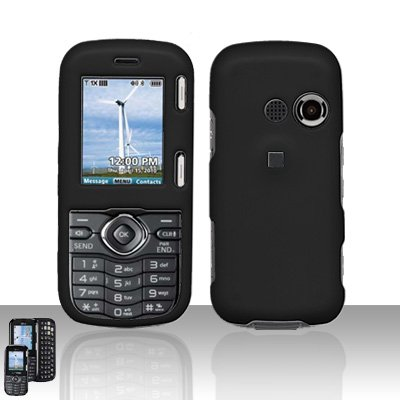 Black Cover Case Snap on Protector for LG Rumor 2 LX265