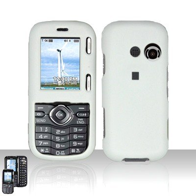 White Cover Case Snap on Protector for LG Rumor 2 LX265