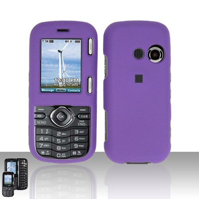 Purple Cover Case Snap on Protector for LG Rumor 2 LX265