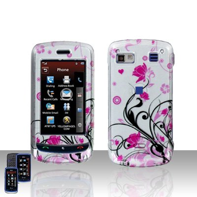 Pink Flowers Cover Case Snap on Protector for LG Xenon GR500