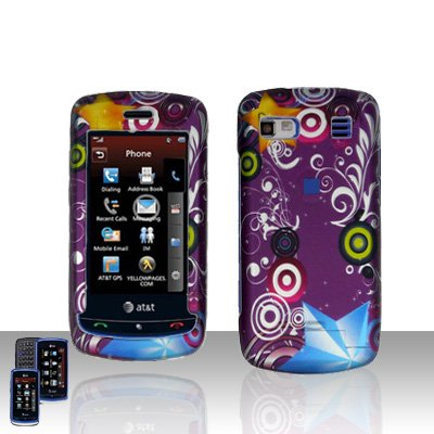 Purple Design Cover Case Snap on Protector for LG Xenon GR500