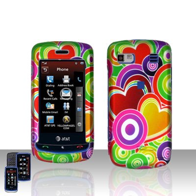 Colorful Hearts Cover Case Snap on Protector for LG Xenon GR500