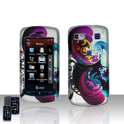 Purple Swirl Cover Case Snap on Protector for LG Xenon GR500