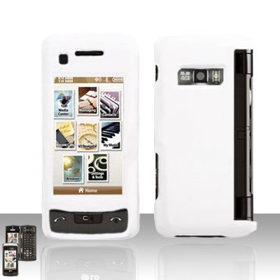 White Cover Case Snap on Protector for LG enV TOUCH VX11000