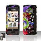 Colorful Music Cover Case Snap on Protector for LG enV TOUCH VX11000