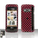 Red Checkered Cover Case Snap on Protector for LG enV TOUCH VX11000