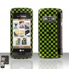 Green Checkered Cover Case Snap on Protector for LG enV TOUCH VX11000