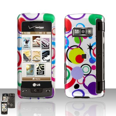 Colorful Dots Cover Case Snap on Protector for LG enV TOUCH VX11000