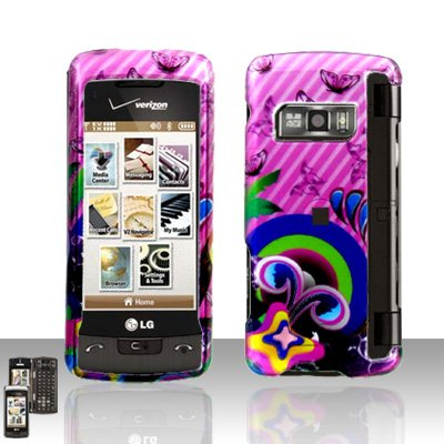 Butterflies Cover Case Snap on Protector for LG enV TOUCH VX11000