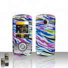 Rainbow Zebra Case Cover Snap on Protector for LG Lyric MT375