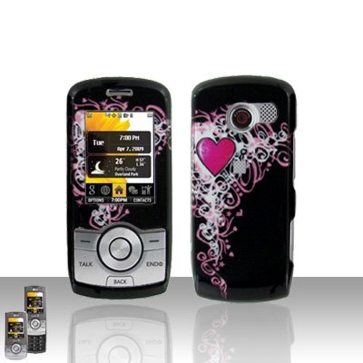 Heart Case Cover Snap on Protector for LG Lyric MT375