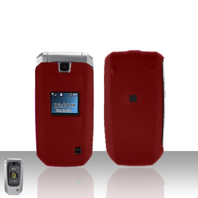 Red Cover Case Snap on Protector for LG Helix LW310 UX310