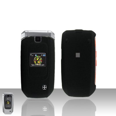 Black Cover Case Snap on Protector for LG Helix LW310 UX310