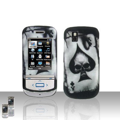 Spade Skull Cover Case Snap on Protector for LG Shine II 2