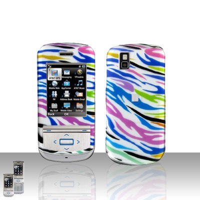 Colorful Zebra Cover Case Snap on Protector for LG Shine II 2