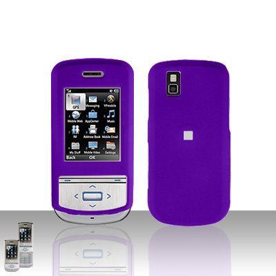 Purple Cover Case Snap on Protector for LG Shine II 2