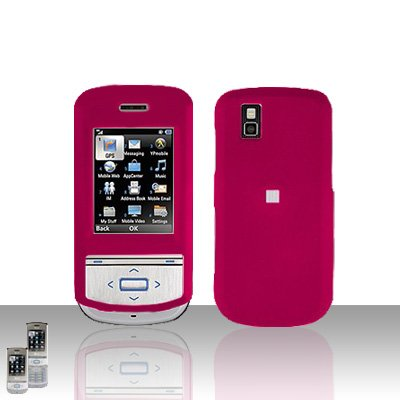 Pink Cover Case Snap on Protector for LG Shine II 2