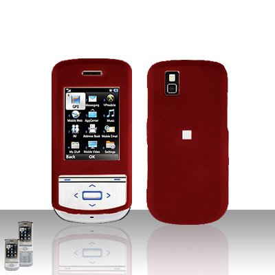 Red Cover Case Snap on Protector for LG Shine II 2