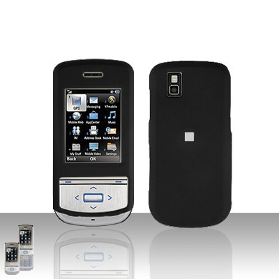Black Cover Case Snap on Protector for LG Shine II 2