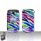 Rainbow Zebra Cover Case Snap on Protector for LG Accolade VX5600