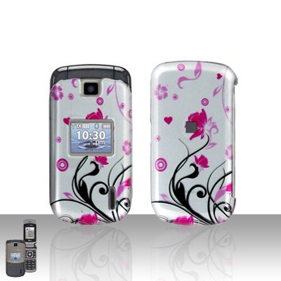Pink Flowers Cover Case Snap on Protector for LG Accolade VX5600