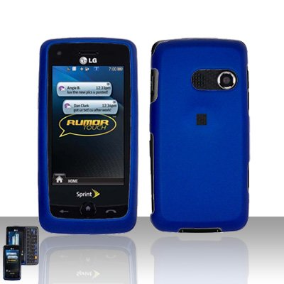 Blue Cover Case Snap on Protector for LG Rumor Touch LN510