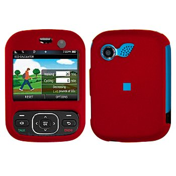 Red Cover Case Snap on Protector for LG Imprint MN240