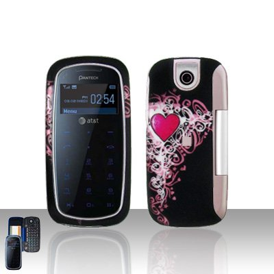 Pantech Impact P7000 Vintage Heart Cover Case Snap on Protector P 7000