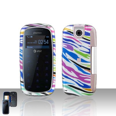Pantech Impact P7000 Rainbow Zebra Cover Case Snap on Protector P 7000