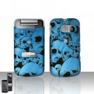 Sanyo Mirro 3810 Blue Skull Cover Case Snap on Protector