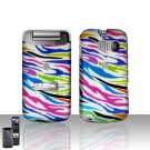 Sanyo Mirro 3810 Rainbow Zebra Cover Case Snap on Protector