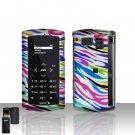 Sanyo Incognito 6760 Rainbow Zebra Cover Case Snap on Protector