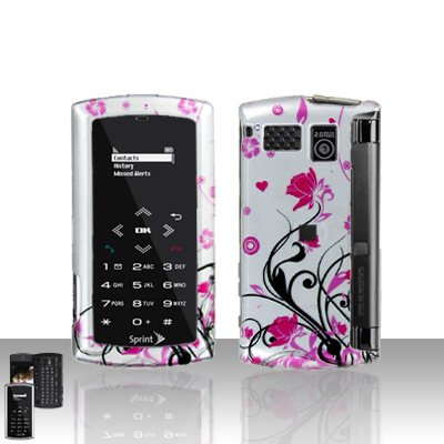 Sanyo Incognito 6760 Pink Flowers Cover Case Snap on Protector