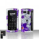 Sanyo Incognito 6760 Purple Flowers Cover Case Snap on Protector