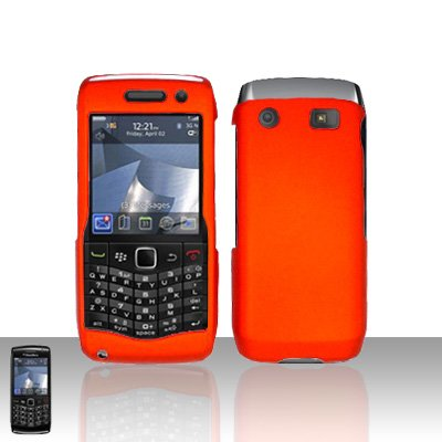 Blackberry Pearl 3G 9100 Orange Cover Case Snap on Protector