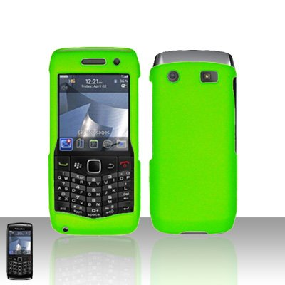 Blackberry Pearl 3G 9100 Neon Green Cover Case Snap on Protector