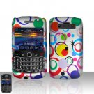 Blackberry Bold 9700 Onyx Colorful Dots Cover Case Snap on Protector + Car Charger
