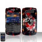 Blackberry Bold 9700 Onyx Clown Skull Cover Case Snap on Protector + Car Charger