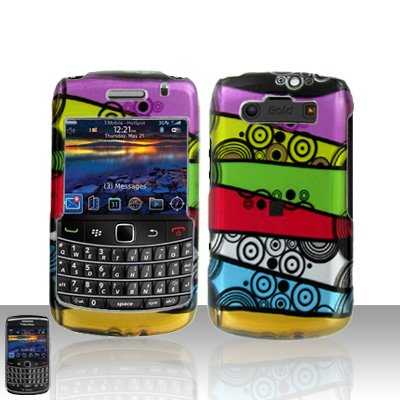 Blackberry Bold 9700 Onyx Colorful Stripes Cover Case Snap on Protector