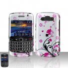 Blackberry Bold 9700 Onyx Pink Flowers Cover Case Snap on Protector
