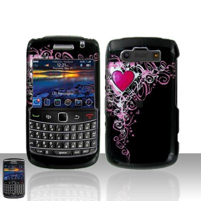 Blackberry Bold 9700 Onyx Pretty Heart Cover Case Snap on Protector