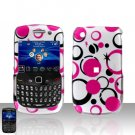 Blackberry Curve 8520 8530 Pink Dots Cover Case Snap on Protector